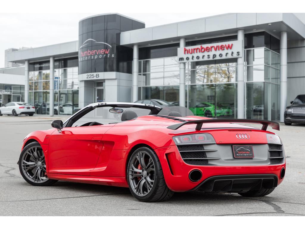 2012 Audi R8 GT Spyder Rear Third Quarter
